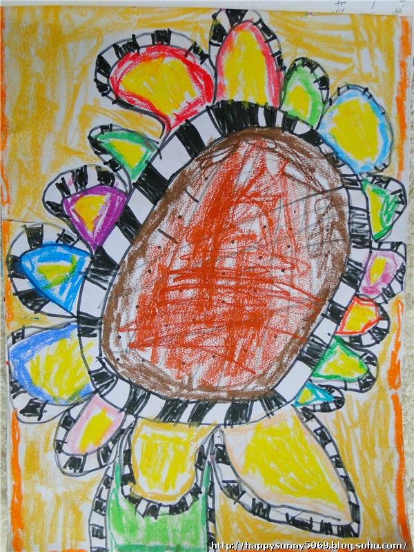 幼儿园中班上学期及美术课画作