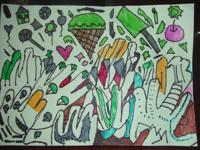 水粉儿童画范画 水粉儿童画范画 优秀水粉儿童画 3