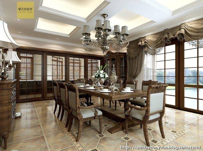 式风格奢华别墅装修设计效果图 北京别墅装修设计 搜狐圈子