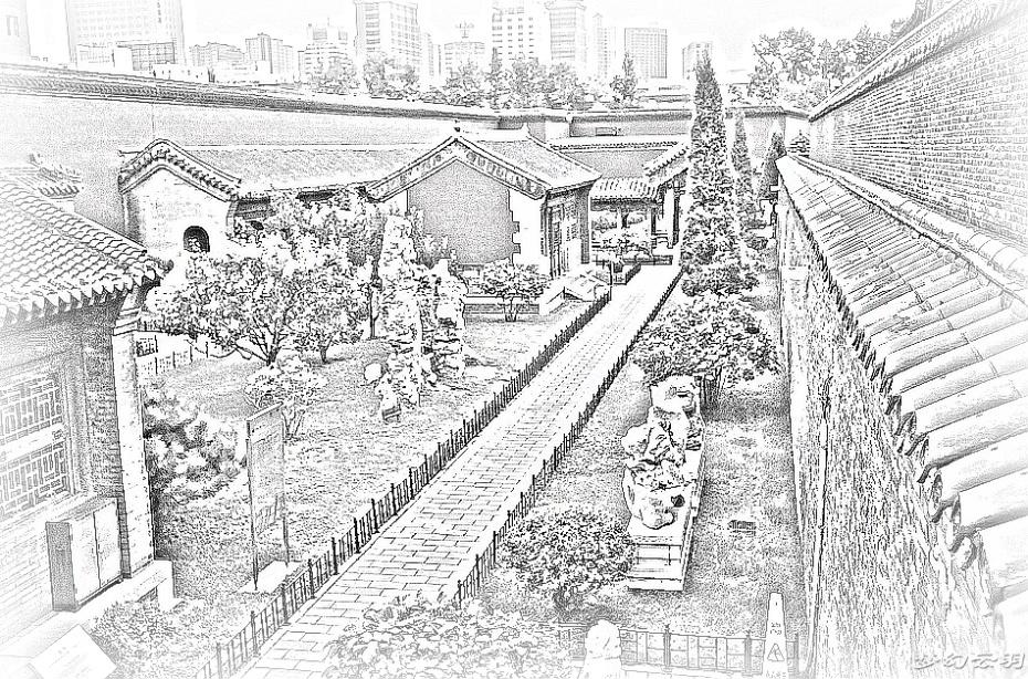 沈阳故宫简笔画-文革手绘宣传画毛泽东选集19 30