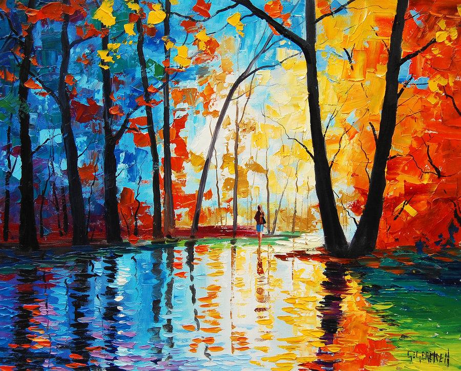 画秋天的边框_梦幻四季设计图__其他素材_底纹边框_设计图