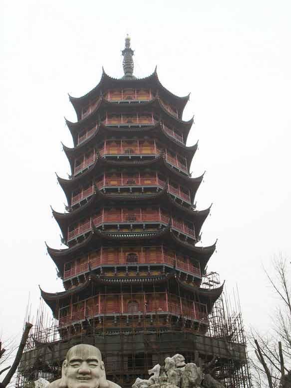 南京报恩寺塔手绘图片