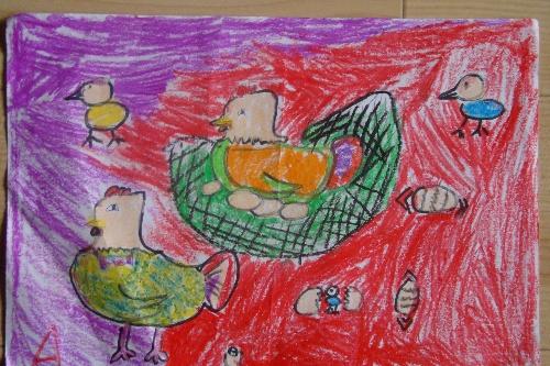 一年级小孩的画