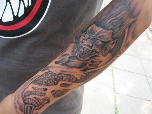 富贵鱼手臂纹身手稿分享展示