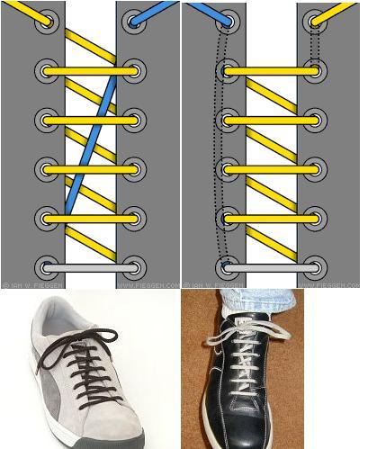 详细图解:最强最全最时尚系鞋带方法-大鸟图片博客