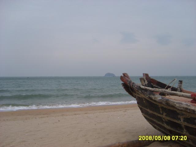 清流河 沙滩; 7月9日下午崂山流清河洗海澡活动召集; 原拍图片 青岛*