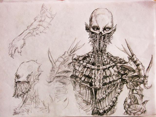 怪物高中人物手绘