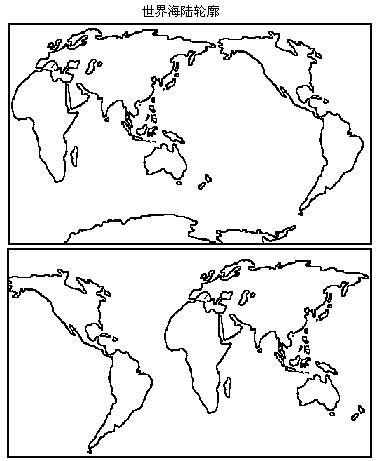 初一手绘亚洲轮廓图