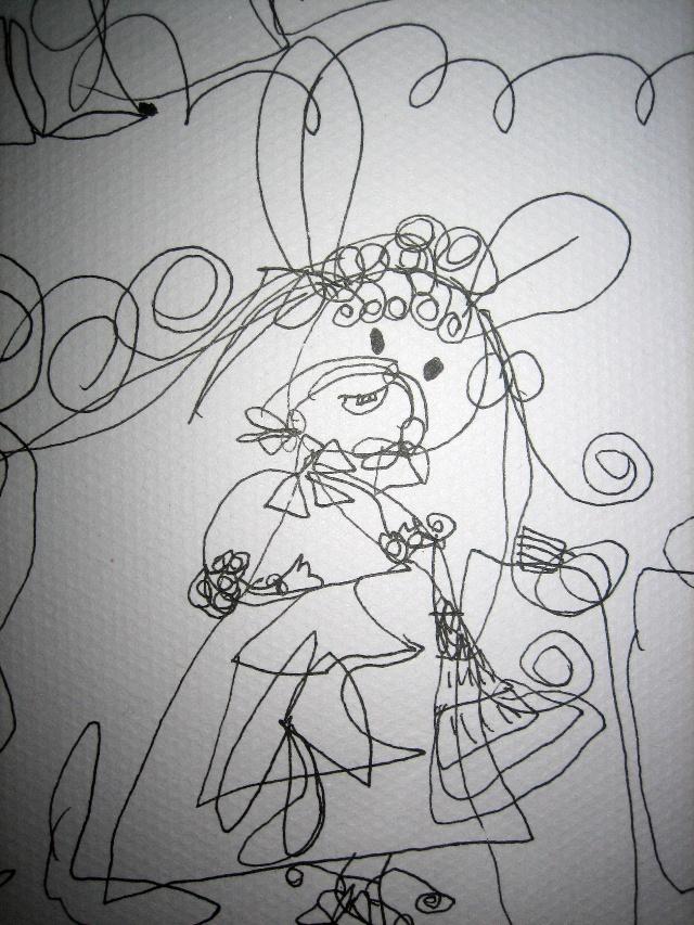 公主简笔画结婚简笔画