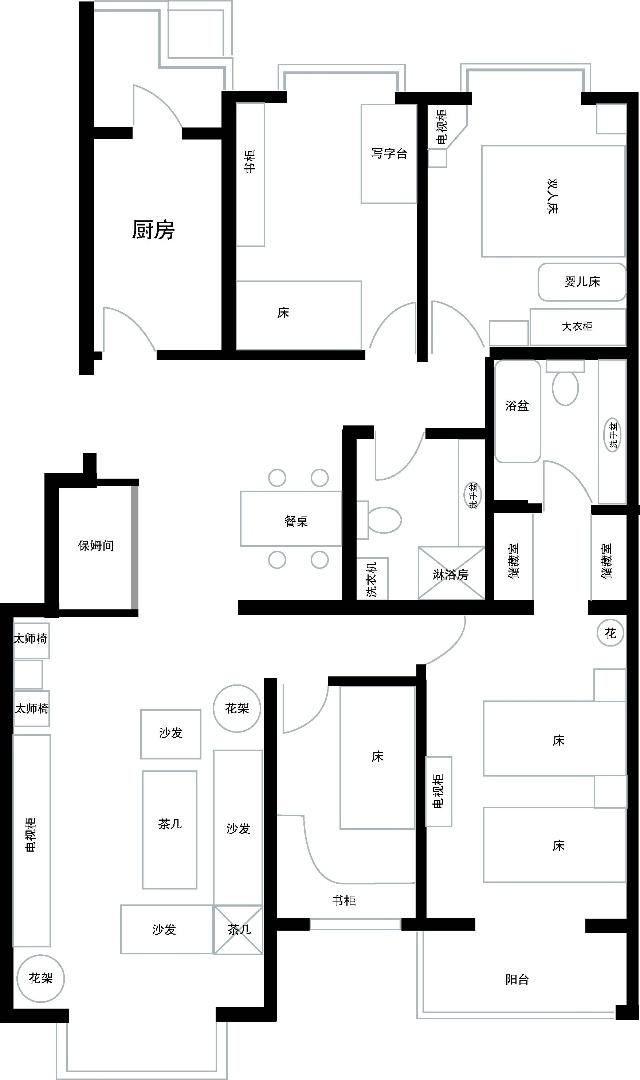 平房设计图四室
