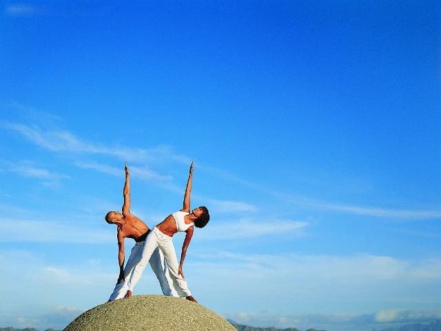 瑜伽,自然和生命的融合