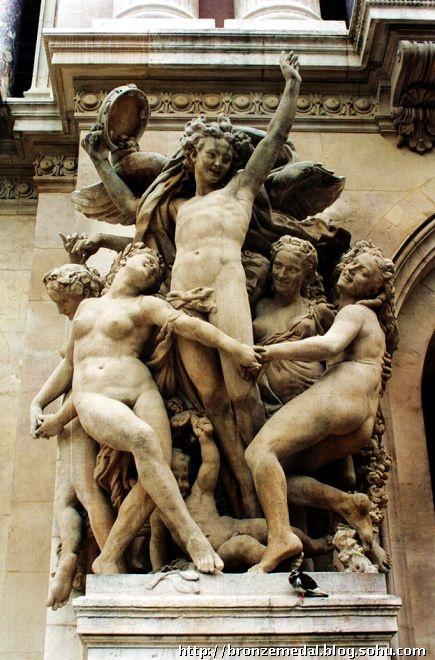艺术铜牌--法国巴黎歌剧院著名雕塑--《舞蹈》-顾