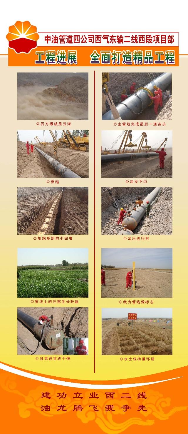 四公司西二线西段项目展板展示-管道四公司工程(7)