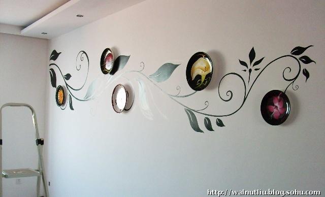 格林小镇的手绘墙