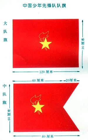 少先队的队旗是少先队组织的标志.