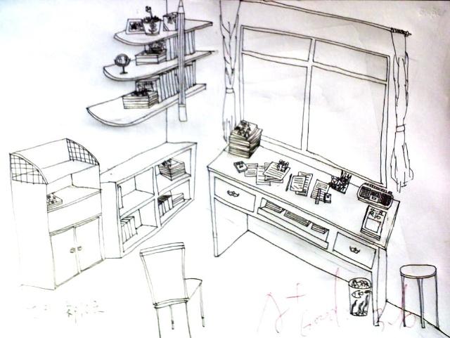 琥珀中学七年级《美术》下册《手绘线条图像的表达》2