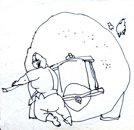 大枣树简笔画过程
