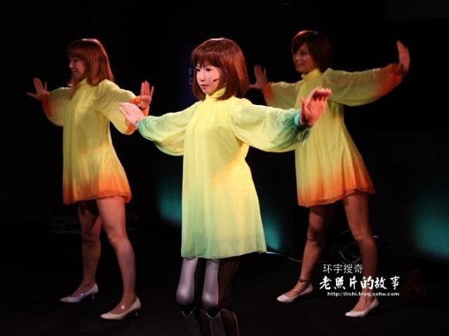 日本推出会跳舞的美女机器人附视频