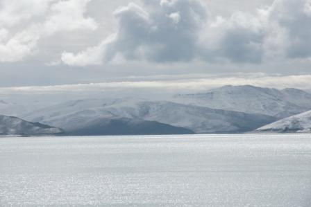 油画风景临摹雪山高清