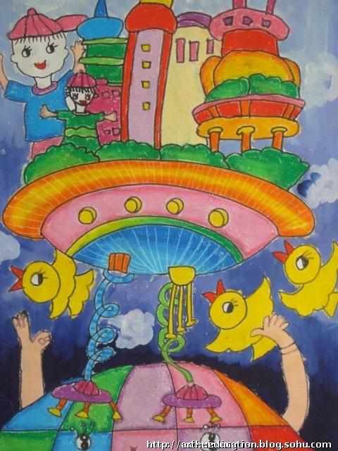 少儿科学幻想绘画参赛要求 1,科学幼想绘画是指少年儿童通过对未来图片