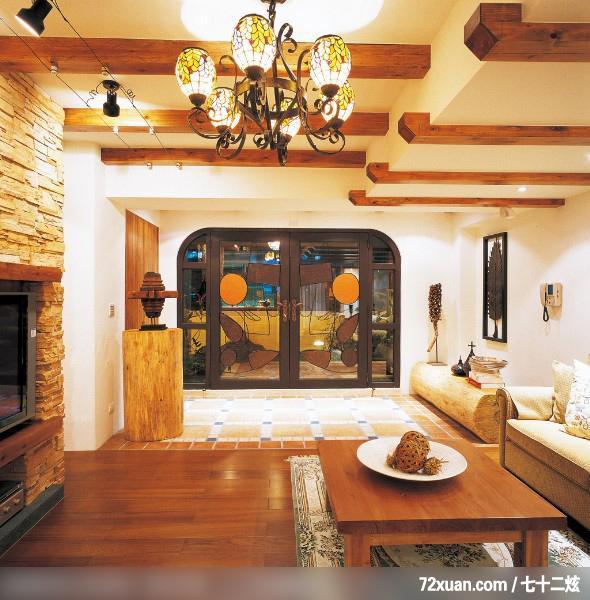美式田园风格电视墙装修效果图 changzhilongczl 126 一起