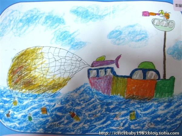"""09-10第二学期""""保护海洋""""绘画大赛学生参赛作品"""