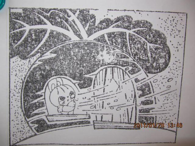冬天小树儿童画