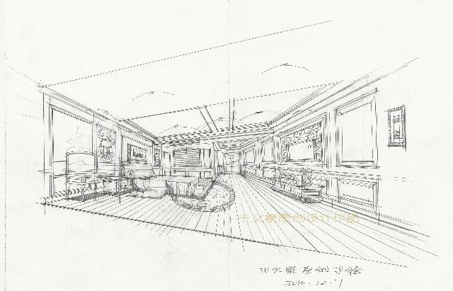 北京建筑物儿童手绘图