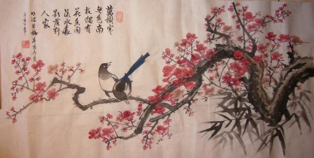 我喜欢书画常常在画梅花和画牡丹时加上喜鹊,去年五月我还在qq 空间里写了一篇《喜鹊世界上最聪明的吉祥鸟》一文,没想到多半年后在喜庆的春节前夕很多喜鹊,野鸭被活活饿死了,看到报道的那天夜里我辗转难眠,心中在流血。偌大的中国首都经容不下小小喜鹊生存的空间,真是悲哀!