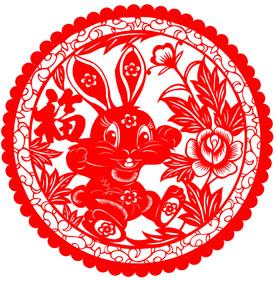 最简单的剪纸_最简单兔子剪纸图片大全 兔子的简单剪法图片