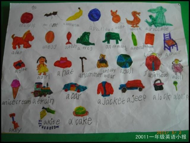 一年级英语小报展示高清图片