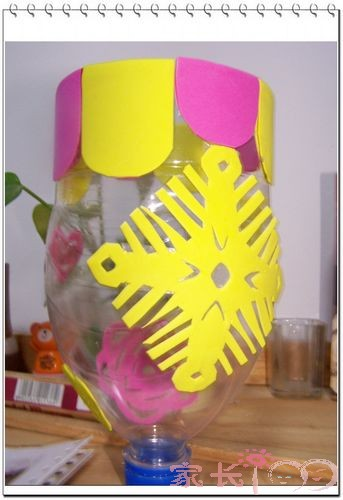 花瓶海绵纸贴画作品
