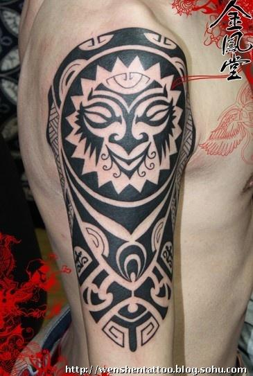 经典图腾纹身,包臂纹身图案图片