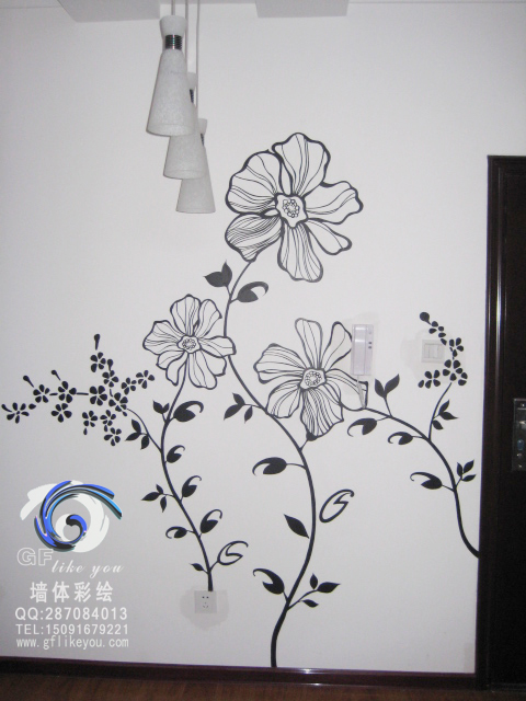 西安gf手绘墙