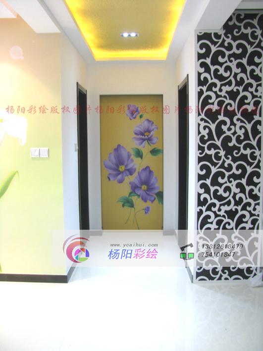 手绘隐形门壁画-现代风格装饰-苏州手绘墙-搜狐博客