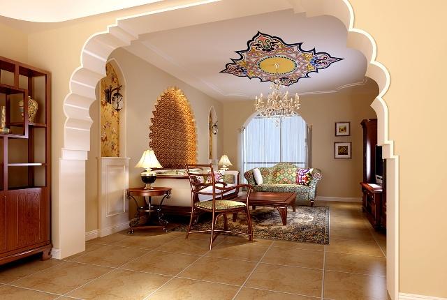 塞纳河上的浪漫三室二厅二卫装修案例效果图 140平米设计