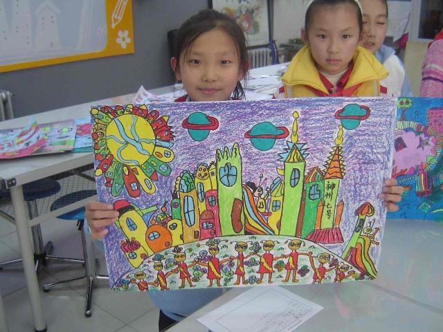 品欣赏 北京市科幻画大赛 我的太空家园 二 三 六年级图片