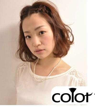今年最流行的刘海编发发型图片欣赏图片