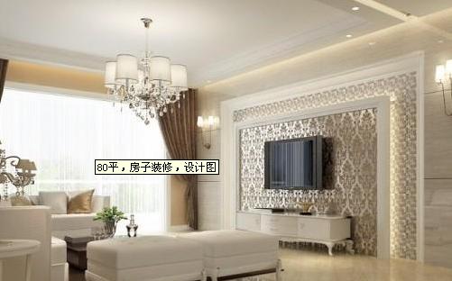 客厅装饰主要是采用硬线条和浅色调打造大气效果。白色地砖加白色茶几,价格都很便宜。深红色窗帘,避免整体颜色过于单调。也凸显整体风格的沉稳和大气。一抹绿色盆栽恰到好处地装点出了生机盎然的客厅。沙发背景墙也是一幅美丽的风景画,和餐厅背景墙达到统一的效果,开阔的海域,让空间更显通透。