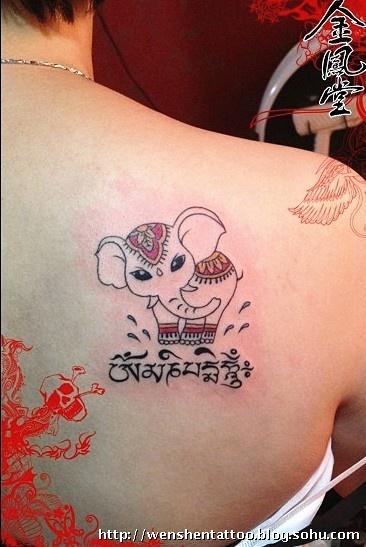 法蒂玛之手纹身 羽毛纹身 六字真言纹身 莲花守护神纹身 情侣纹身图片