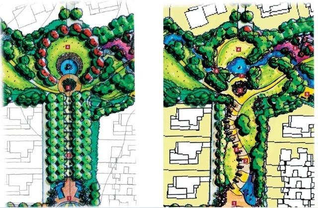 入口景观设计平面合集