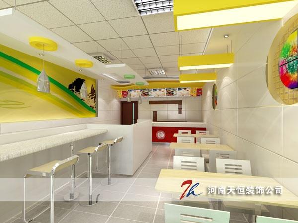 郑州快餐厅装修设计的用途及风格设计 时尚专业快餐店