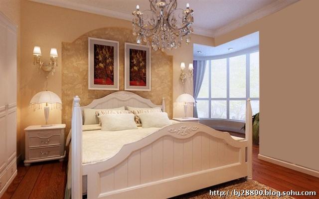 路劲·世界城-二居室-90平米-卧室装修效果图; 府前东路小区-二居室