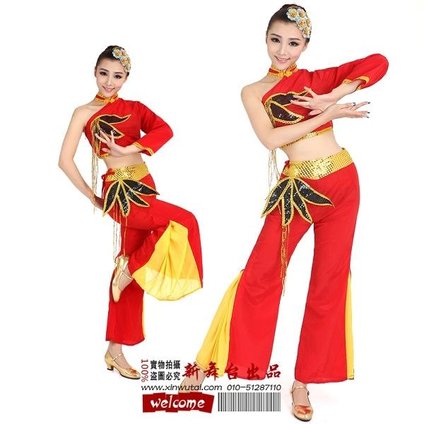 藏族舞蹈服装租赁孔雀舞傣族舞服装出租西班牙开场舞服装康康舞139108