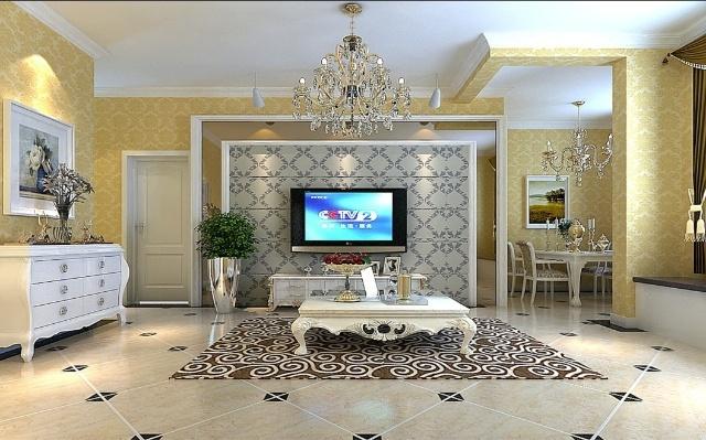 装饰 双合家园90平米简欧风格装修效果图