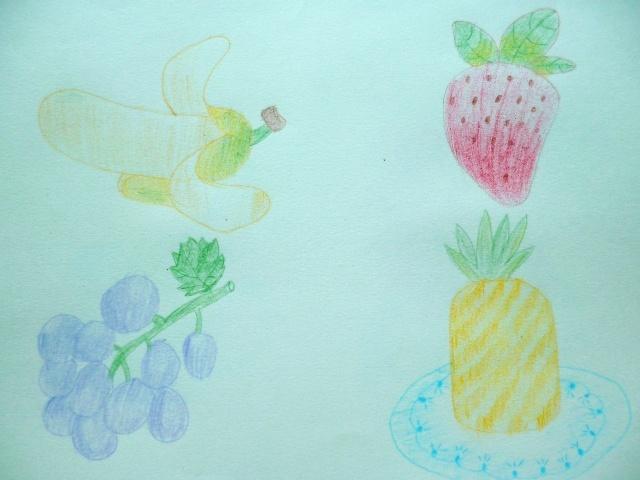 彩铅可爱水果简笔画
